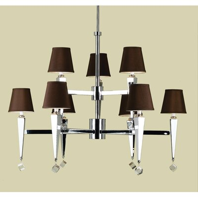 AF Lighting Margo 9 Light Chandelier