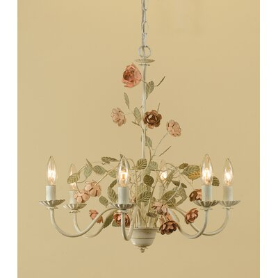 AF Lighting Ramblin Rose 6 Light Chandelier