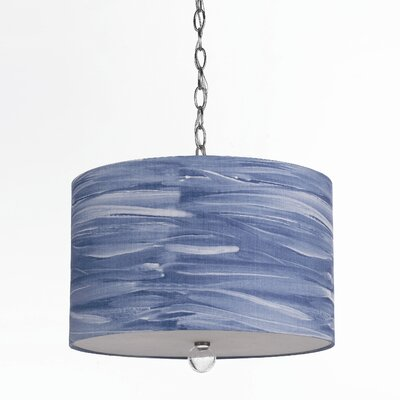 Horizons Water Color Coast 3 Light Drum Pendant
