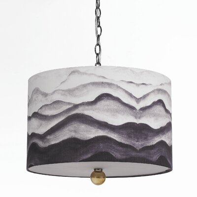 Horizons Mountain Air 3 Light Drum Pendant