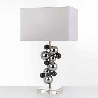 "AF Lighting Horizons Atom 23.5"" H Table Lamp with Square Shade"