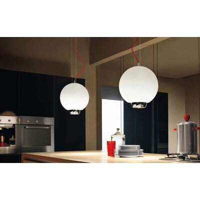 Murano Luce Al Pendant in Chrome