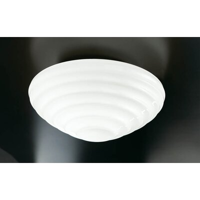 Murano Luce Onda Pendant in Satin Nickel