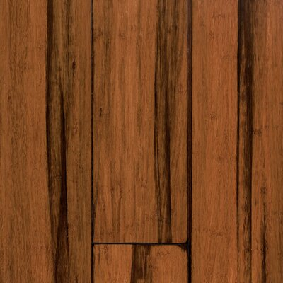 "US Floors Natural Bamboo Expressions 5-1/4"" Solid Locking Strand Woven Bamboo Flooring in Handscraped Antique Black"