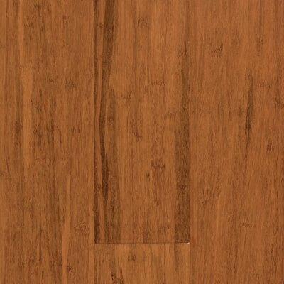 "US Floors Natural Bamboo Expressions 5-1/4"" Solid Locking Strand Woven Bamboo Flooring in Handscraped Spice"
