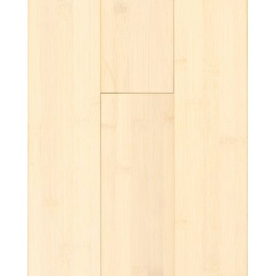 "US Floors Natural Bamboo 3-3/4"" Solid Bamboo in White Wash"