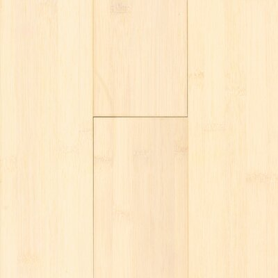 "US Floors Natural Bamboo 3-3/4"" Solid Bamboo Flooring in White Wash"
