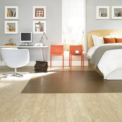 "US Floors Almada Nevoa 4-1/8"" Engineered Locking Cork Flooring in Alba"