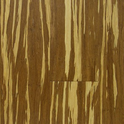 "US Floors Natural Bamboo 3-3/4"" Engineered Strand Woven Bamboo Flooring in Tiger"