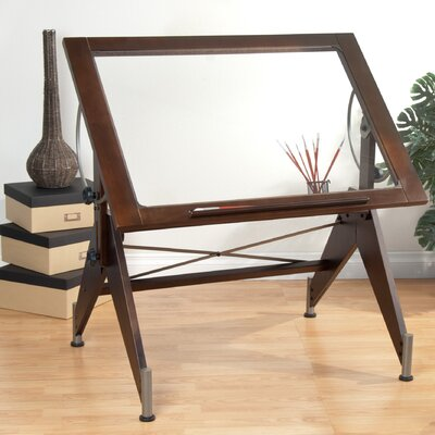 Studio Designs Aries Glass Drafting Table