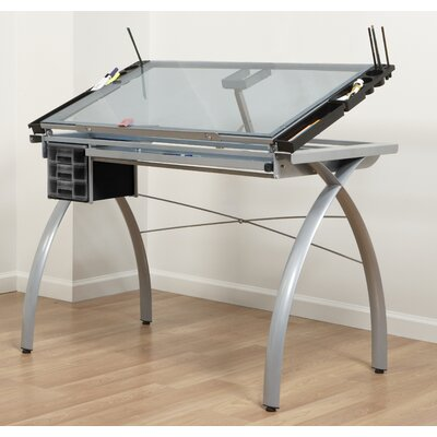 Studio Designs Futura Station Glass Drafting Table