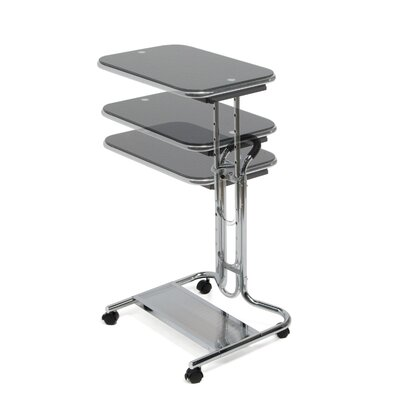 Studio Designs Laptop Cart with Mouse Pad in Chrome