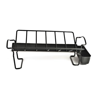 Charcoal Companion Non-Stick Roasting Rack with Juice Reservoir