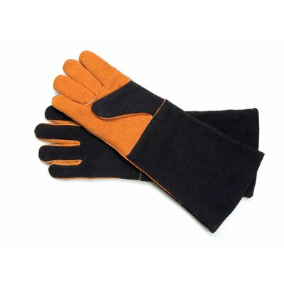 Charcoal Companion Steven Raichlen Pair of Extra Long Suede Gloves