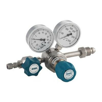 Airgas - 60 PSI Delivery Single Stage High-Purity Stainless Steel Pressure Line Regulator With 4000 PSI Maximum Rated Inlet Pressure And Threadless Seat, CGA-705
