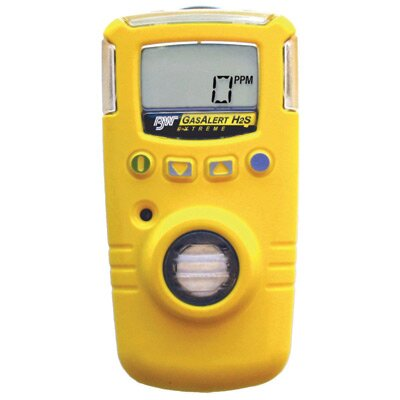 BW Technoligies Sulfide GasAlert Extreme Gas Monitor With Yellow Housing