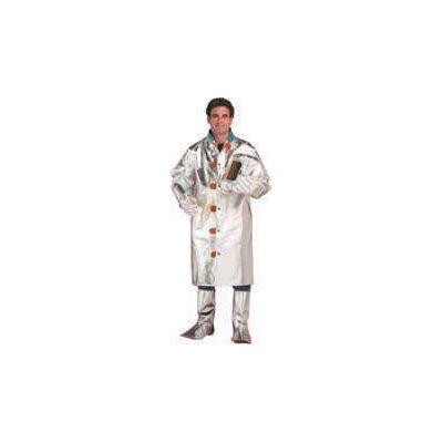 "Chicago Protective Apparel Inc Large Heavy Aluminized Rayon 45"" Coat"
