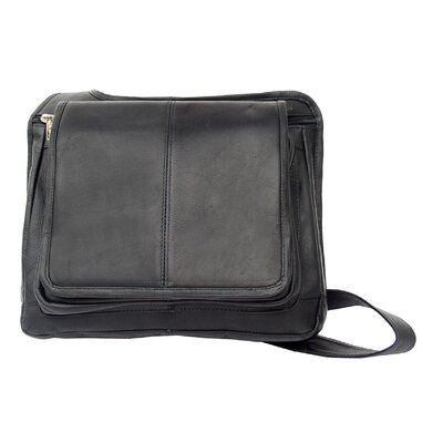 Piel Leather Fashion Avenue Slim Line Flap-Over Ladies Bag
