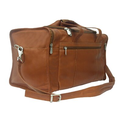 "Piel Leather Traveler 19"" Leather Travel Duffel with Side Pockets"