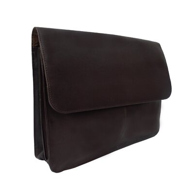 Piel Leather Entrepeneur Three-Section Flap Portfolio