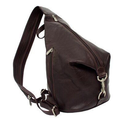 Piel Leather Fashion Avenue Three-Zip Hobo Sling