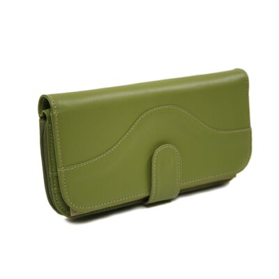 Piel Leather Large Ladies Wallet in Apple