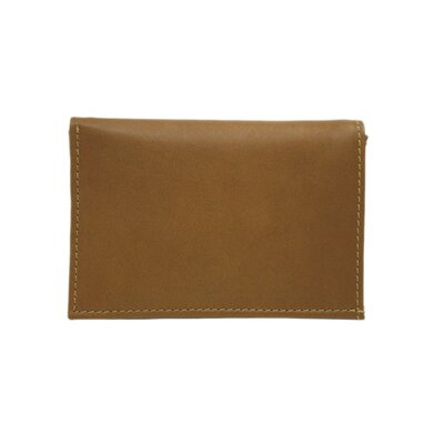 Piel Leather Small Leather Goods Large Tri-Fold Wallet in Saddle