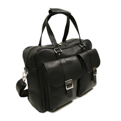 Piel Leather Two-Pocket Satchel