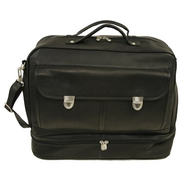 Piel Leather Traveler False Bottom Leather Briefcase
