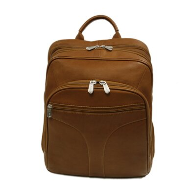 Piel Leather Entrepreneur Checkpoint Friendly Urban Backpack in Saddle