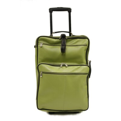 "Piel Leather 22"" Wheeled Traveler Suitcase"