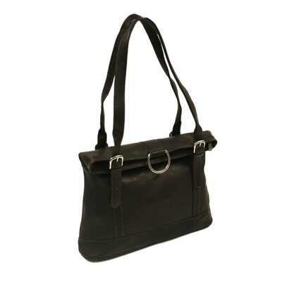 Fashion Avenue Fold-Over Tote in Chocolate