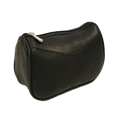 Piel Leather Carry-All Zip Pouch in Black