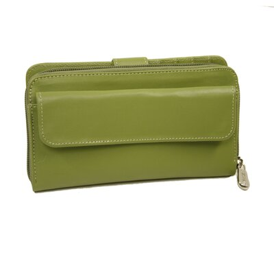 Piel Leather Small Leather Goods Ladies Multi-Compartment Wallet in Apple