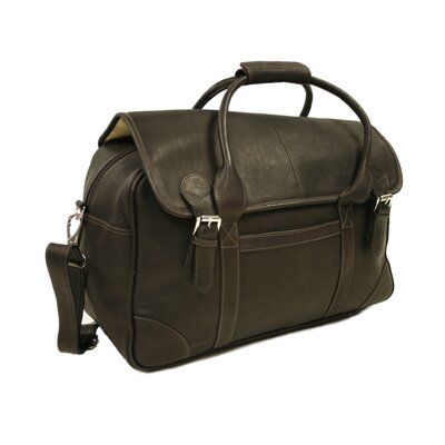 Piel Leather Traveler Flap-Over Carry-On in Chocolate