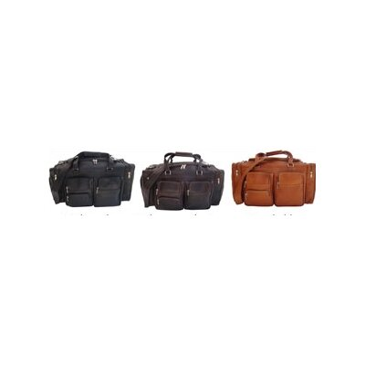 "Piel Leather 20"" Leather Carry-On Duffel with Pockets"