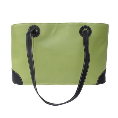 Piel Leather Apple Green Collection Shopping Tote