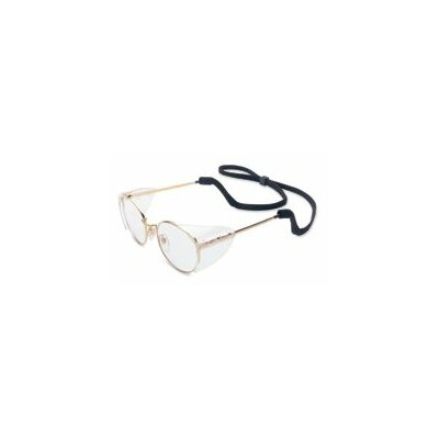 RetroSpec® Safety Glasses With Clear 52mm Lens And Gunmetal Frame With Sidesheilds