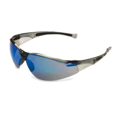 A800 Series Safety Glasses With Gray Frame Blue Mirror Lens