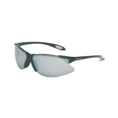 A900 Series Safety Glasses With Black Frame And Silver Mirror Anti-Scratch Hard Coat Lens (10 ...