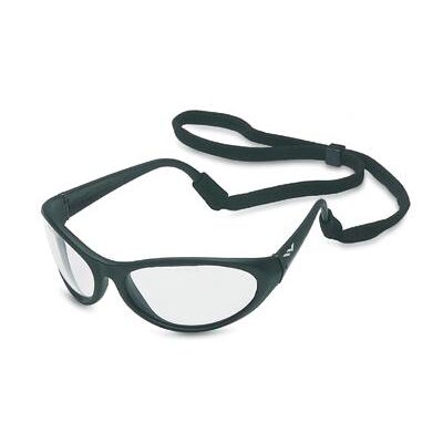 Prevail® Safety Glasses With Clear Fog-Ban® Anti-Fog Lens And Black Frame