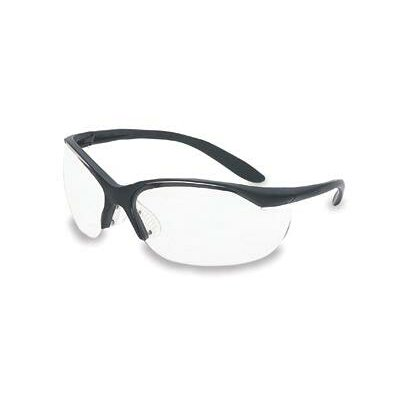 Vapor® II Safety Glasses With Black Frame And Clear Lens