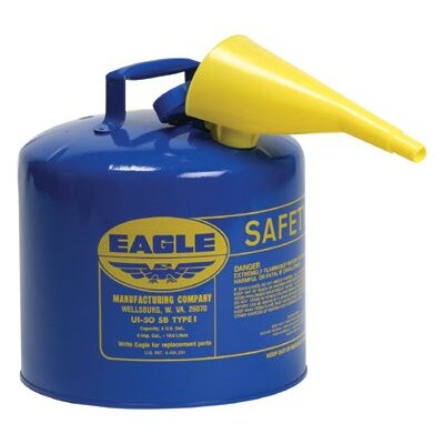 Eagle Manufacturing Company Eagle Mfg - Type L Safety Cans 5 Gallon Safety Can: 258-Ui-50-Fsb - 5 gallon safety can