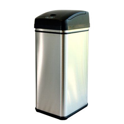 13-Gal. Stainless Steel Touchless Trashcan