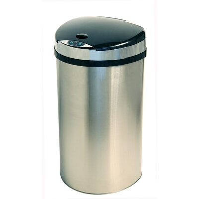 iTouchless 13-Gal. Semi-Round Extra-Wide Opening Touchless Trash Can
