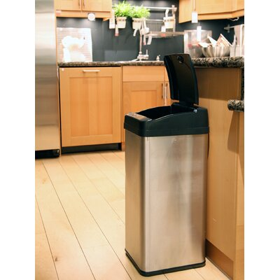 iTouchless 13-Gal. Square Extra-Wide Opening Touchless Trash Can