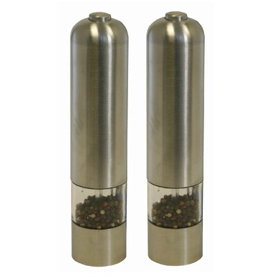 iTouchless Automatic Pepper and Salt Grinder in Brushed Stainless Steel (Set of 2)