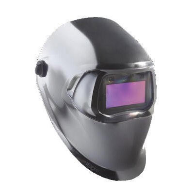 Hornell Speedglas Chrome Colored Welding Helmet 100 With Variable Shade 40402 Auto-Darkening Lens