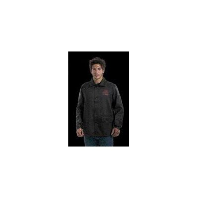 "John Tillman & Co 30"" Black 9 Ounce Top Grain Cowhide Leather And Westex® Proban® FR7A® Cotton Flame Retardant Jacket With Snap Front Closure"