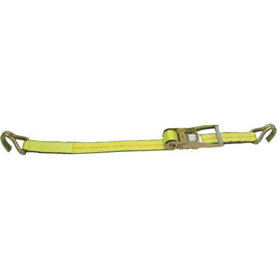 Lift-All Company X 27' Load Hugger 5000 Series Polyester Ratchet Buckle Tiedown With U Hook